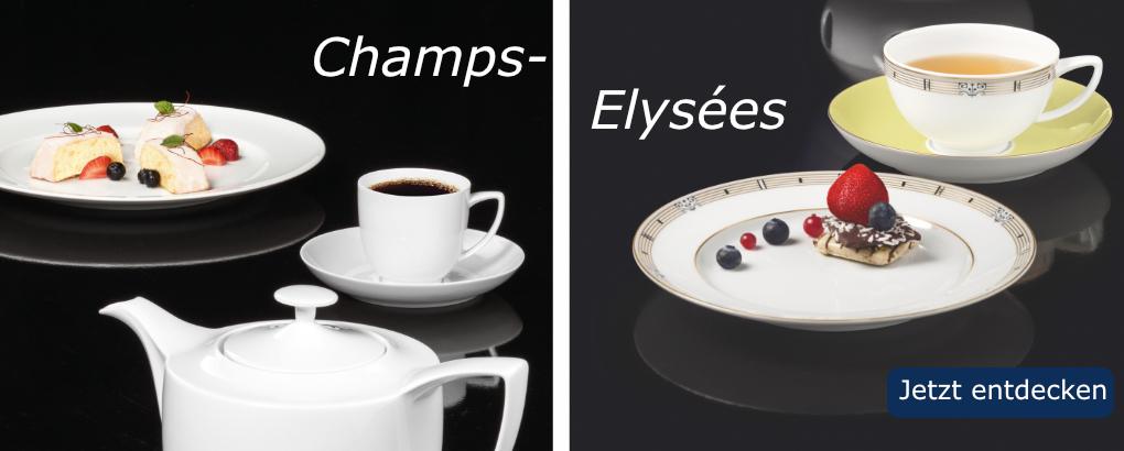 Champs Elysées –neue Porzellanserie Königlich Tettau Shop