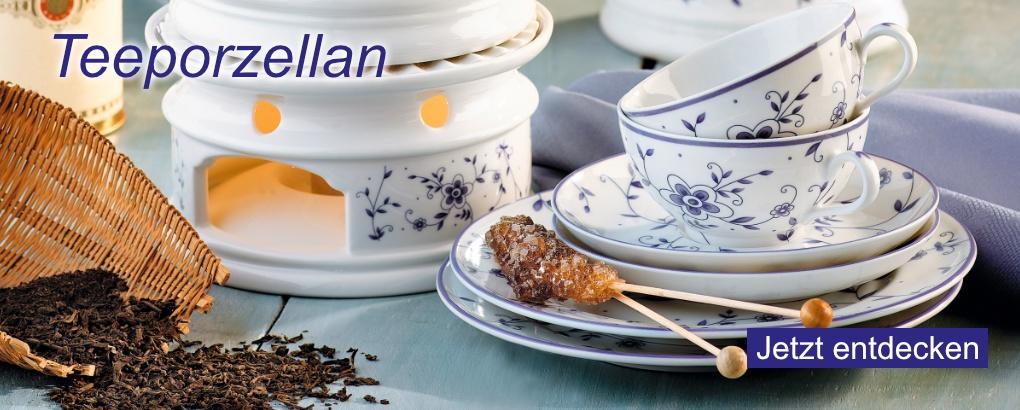 Teeporzellan von Königlich Tettau