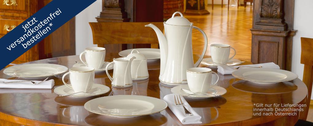 Versandkostenfrei Porzellan bestellen im Königlich Tettau Shop