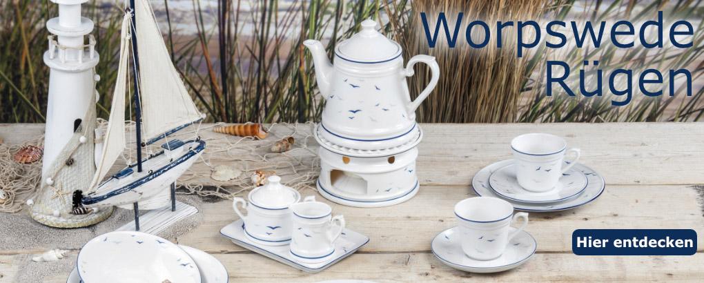 Teeporzellan Worpswede Rügen von Königlich Tettau