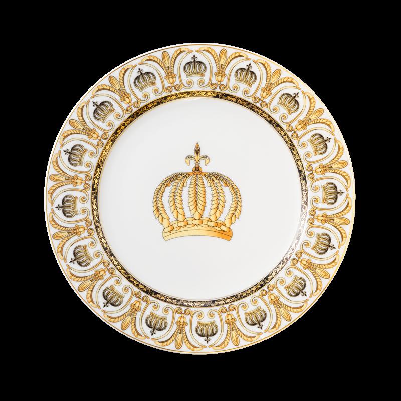 Koeniglich Tettau - Rondo / Liane Speiseteller rund 25 cm Pompöös white