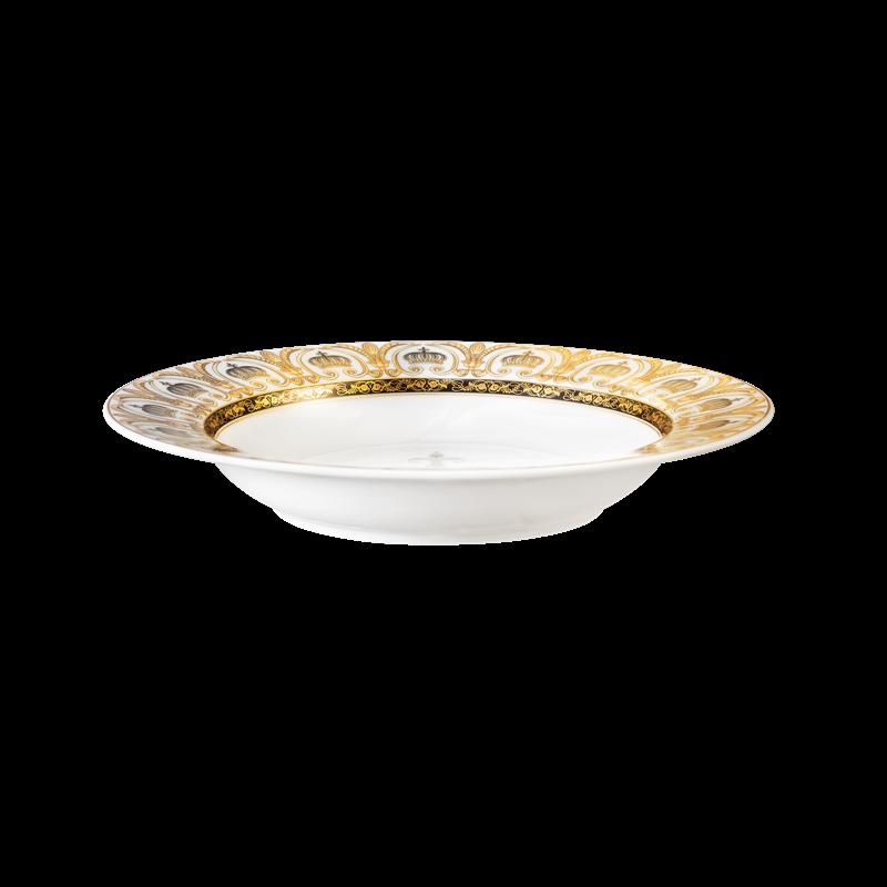 Koeniglich Tettau - Rondo / Liane Suppenteller rund 22 cm Pompöös white