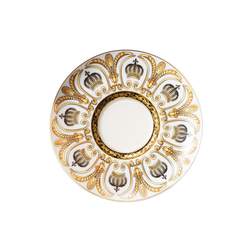 Koeniglich Tettau - Rondo / Liane Milchkaffeeuntertasse 16 cm Pompöös white