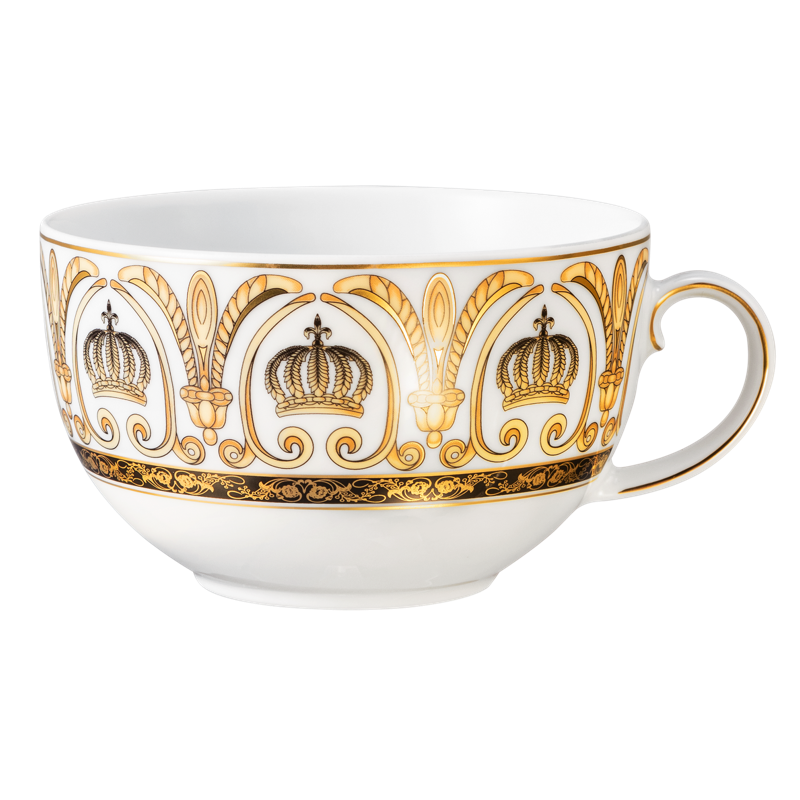Koeniglich Tettau - Rondo / Liane Milchkaffeeobertasse 0,35 l Pompöös white