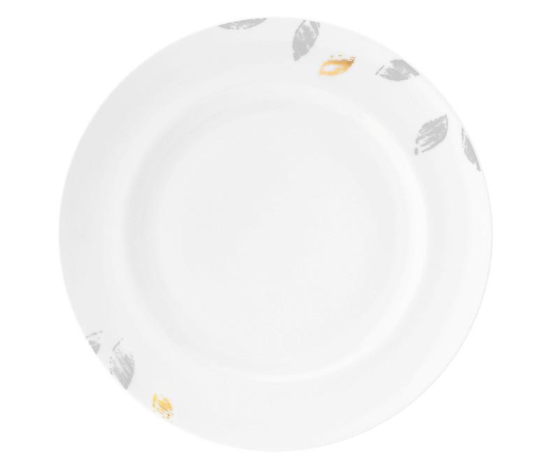 Koeniglich Tettau - Champs Élysées Frühstücksteller rund 22,5 cm Charleston Modern Grey