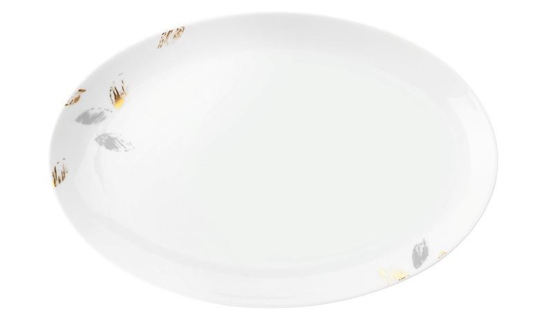 Koeniglich Tettau - Champs Élysées Servierplatte oval 30,5x20 cm Charleston Modern Grey