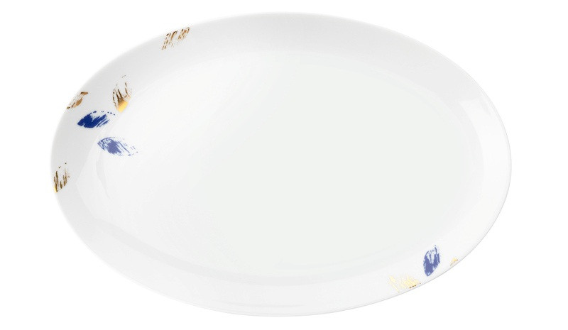 Koeniglich Tettau - Champs Élysées Servierplatte oval 30,5x20 cm Charleston Royal Blue