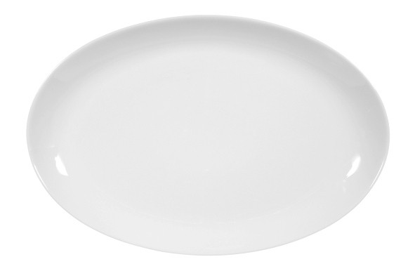 Koeniglich Tettau - Worpswede Servierplatte oval 30 x 20 cm weiß