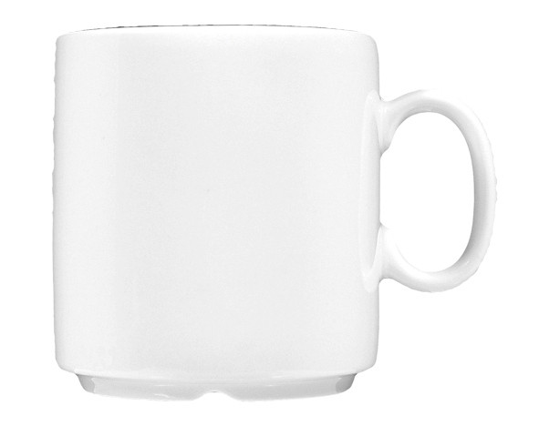 Koeniglich Tettau - Worpswede Becher mit Henkel 0,26 l weiß