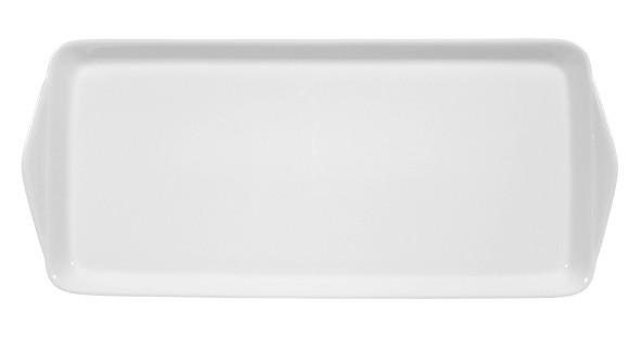Koeniglich Tettau - Worpswede Kuchenplatte rechteckig 35x15 cm weiß