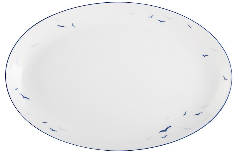 Koeniglich Tettau - Worpswede Platte oval 31 cm Rügen