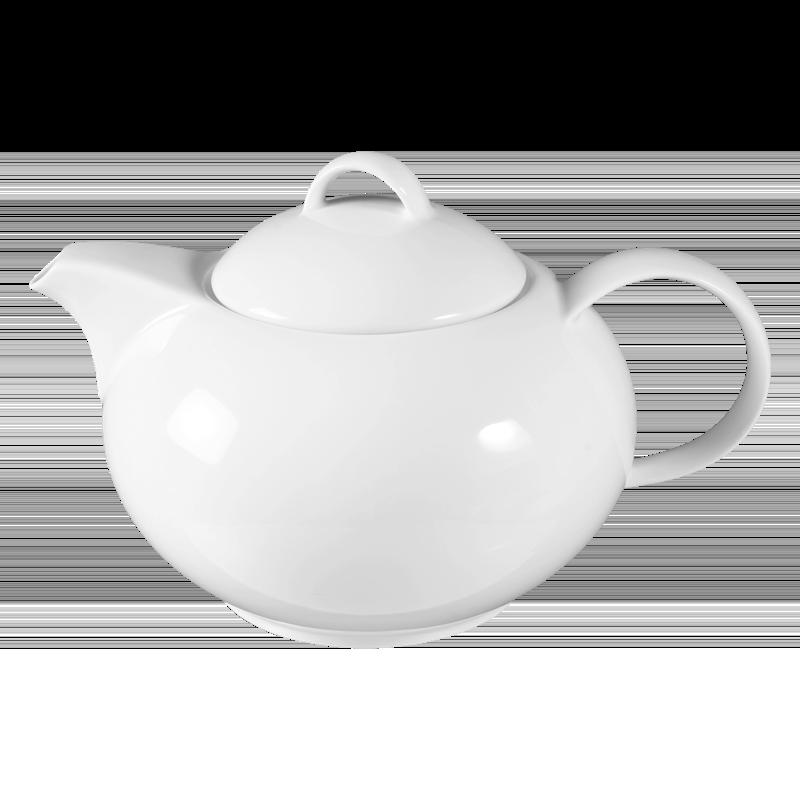 Koeniglich Tettau - Jade  Teekanne 6 Personen weiß