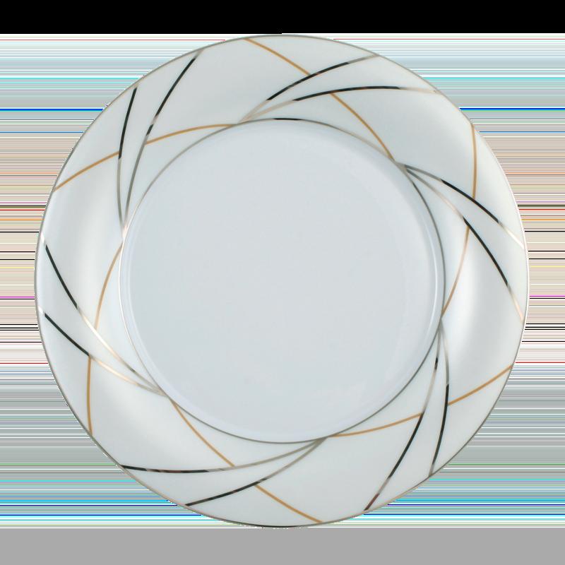Koeniglich Tettau - Jade Frühstücksteller 21 cm Fahne Silk