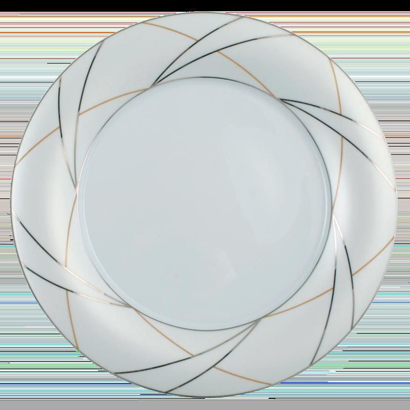 Koeniglich Tettau - Jade Speiseteller 28 cm Fahne Silk