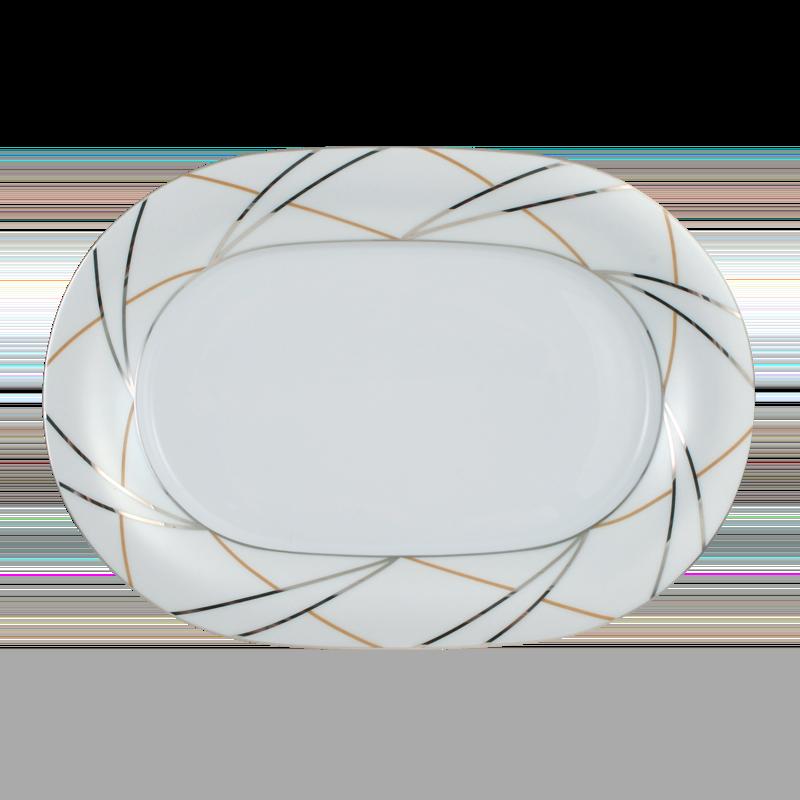 Koeniglich Tettau - Jade Beilagenplatte 24 cm Silk