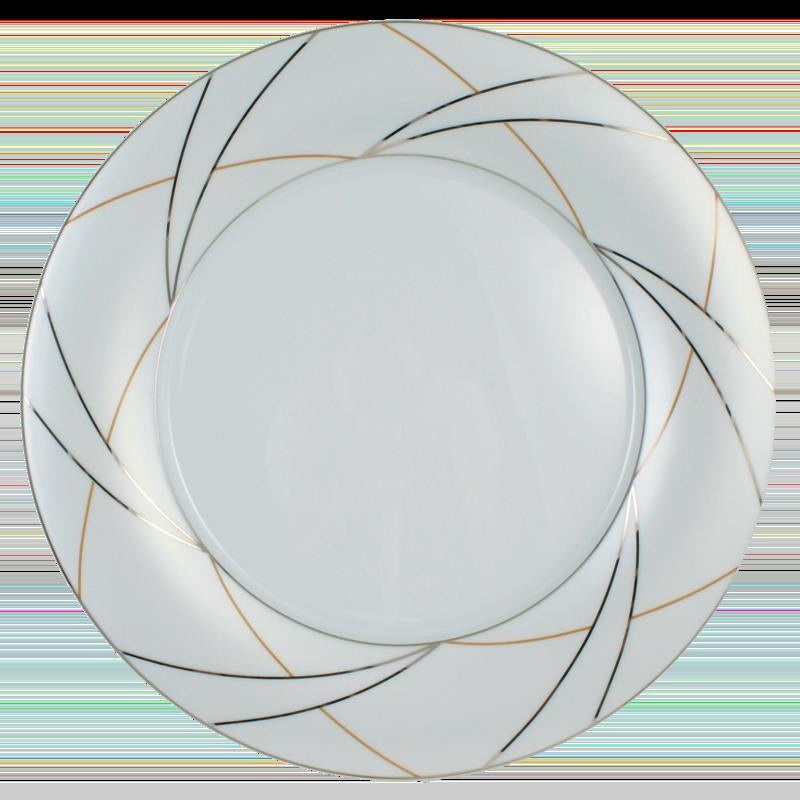 Koeniglich Tettau - Jade Platte rund flach Fahne Silk
