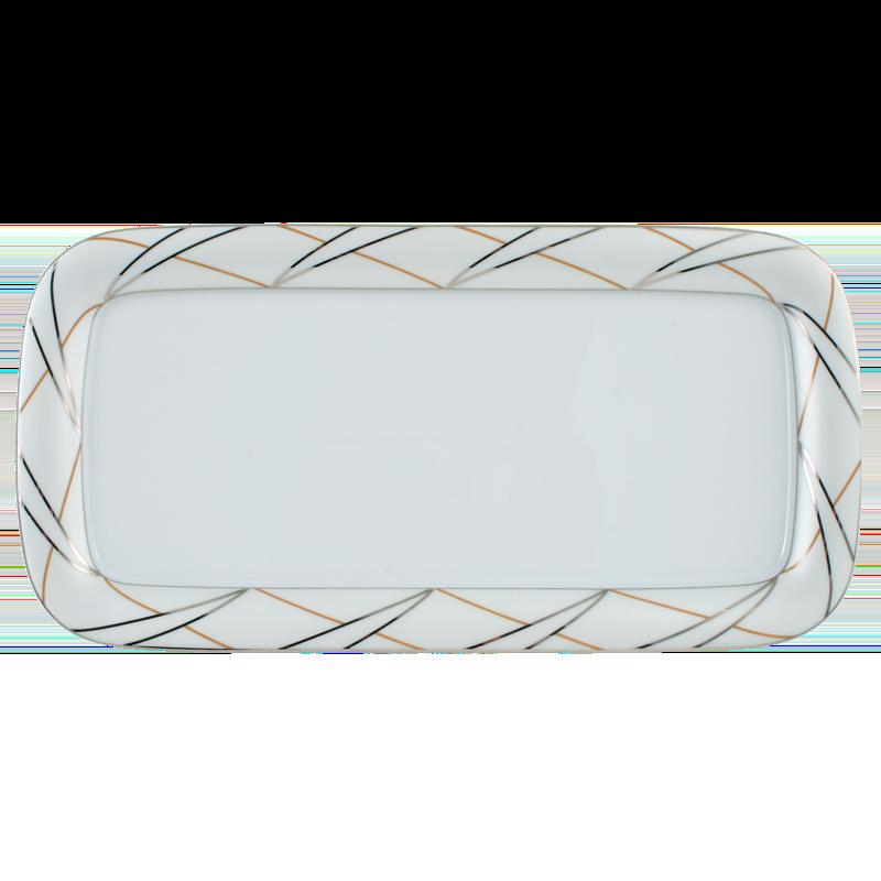 Koeniglich Tettau - Jade Kuchenplatte eckig 35 cm Silk