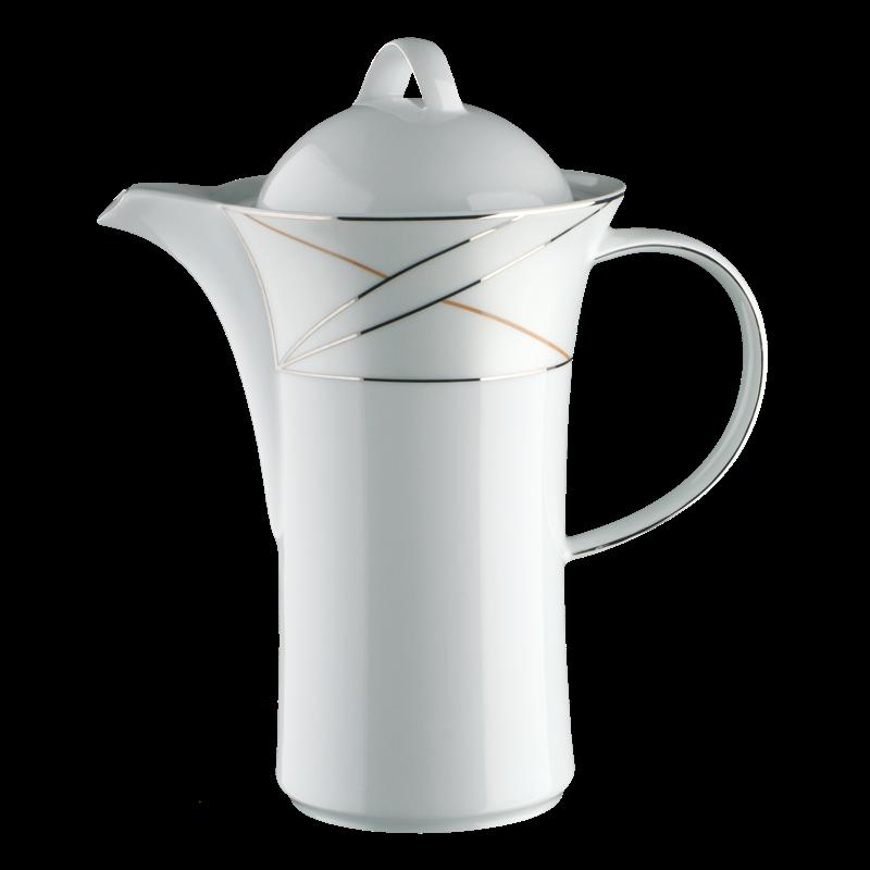 Koeniglich Tettau - Jade Kaffeekanne 6 Personen Silk