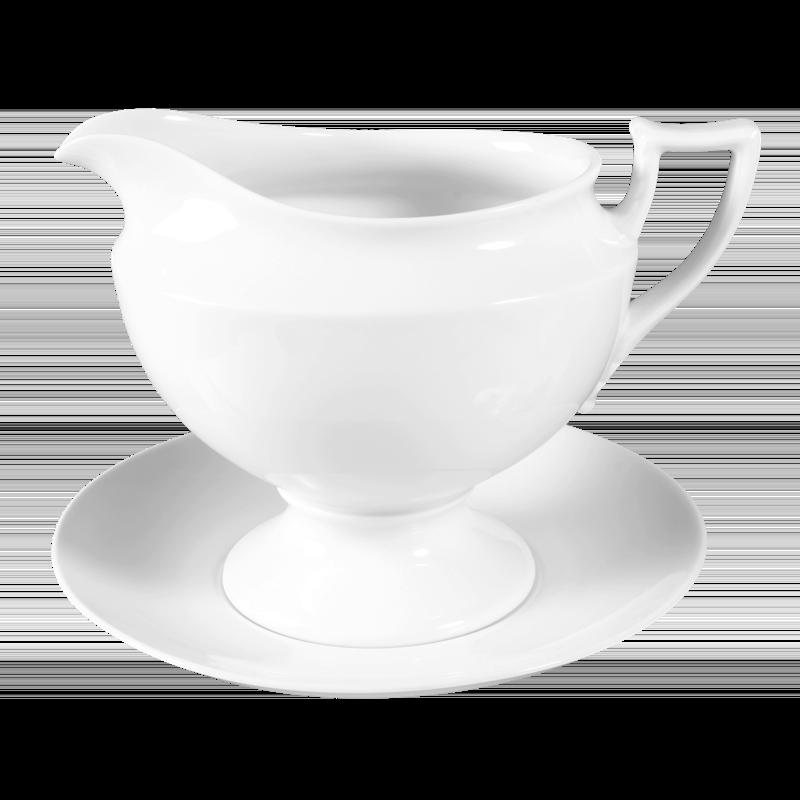 Koeniglich Tettau - Iphigenie Sauciere mit Unterteil weiß