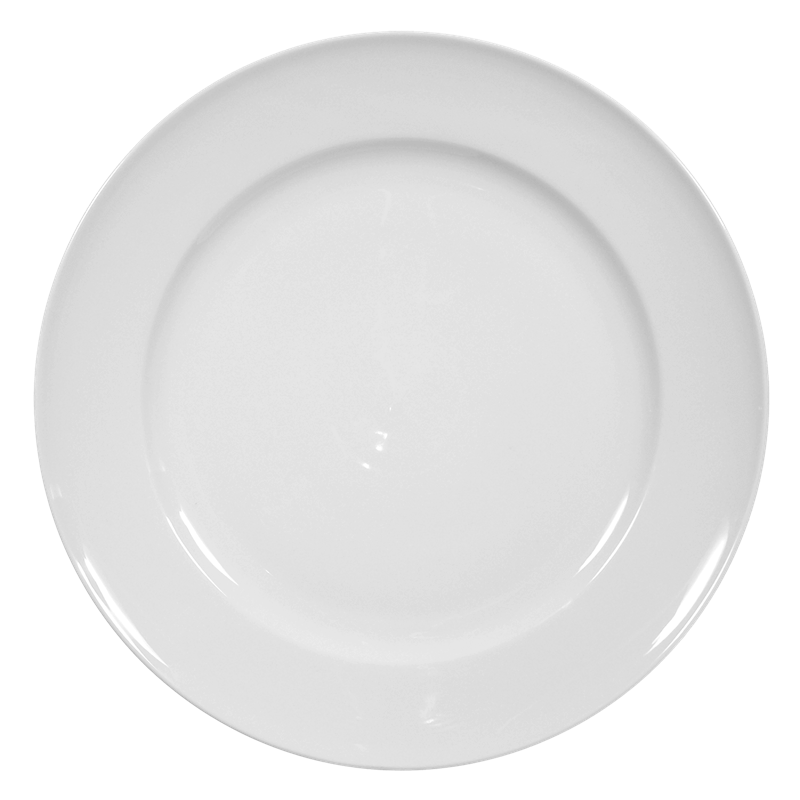 Koeniglich Tettau - Iphigenie Platte rund flach Fahne weiß