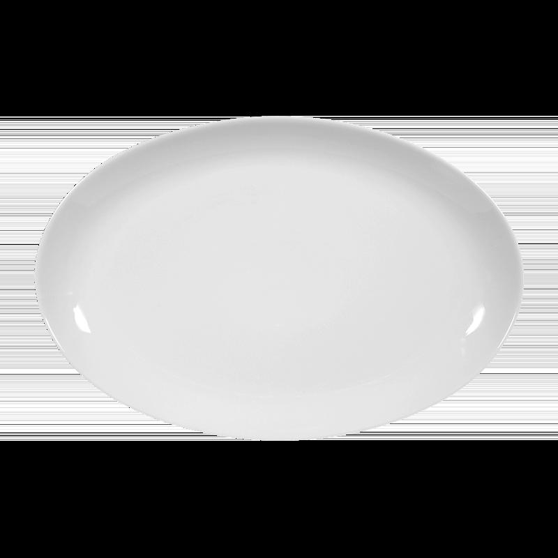 Koeniglich Tettau - Iphigenie Platte oval 31 cm weiß