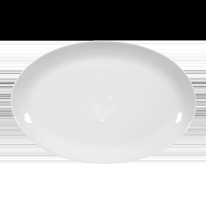 Koeniglich Tettau - Iphigenie Platte oval 35 cm weiß