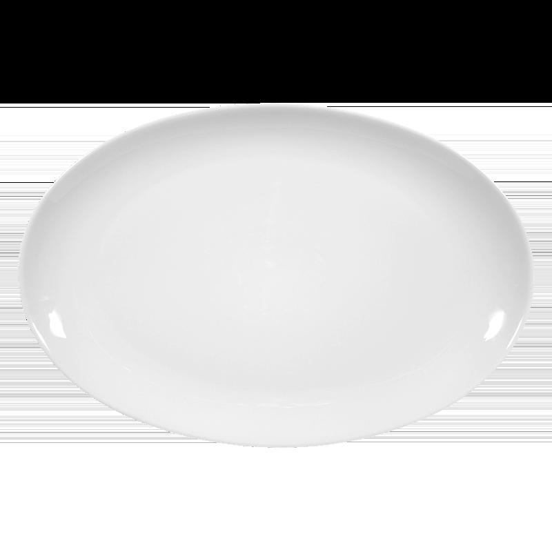 Koeniglich Tettau - Iphigenie Platte oval 40 cm weiß