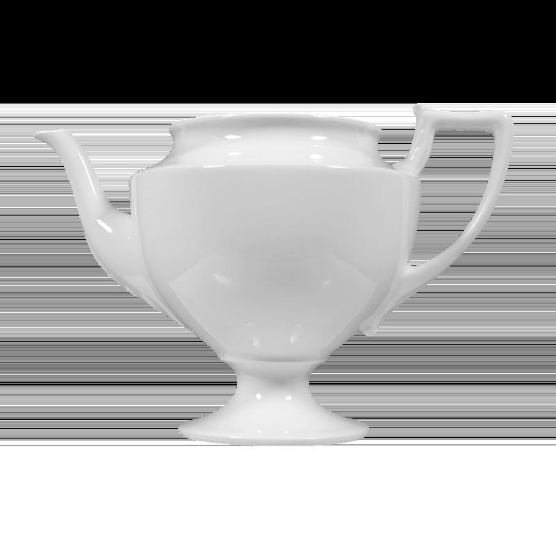 Koeniglich Tettau - Iphigenie  Unterteil zur Teekanne 6 Personen weiß