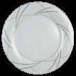 Jade Platte rund flach Fahne Silk
