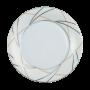 Jade Brotteller 18 cm Fahne Silk