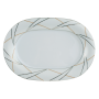 Jade Platte oval 32 cm Silk