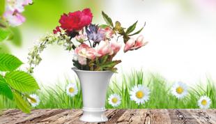 Frühlingsporzellan von Königlich Tettau